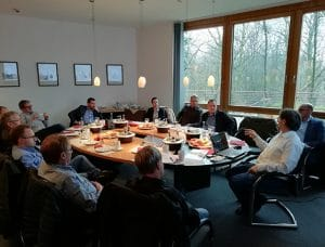 Diskussion beim 3D-Mapping Workshop
